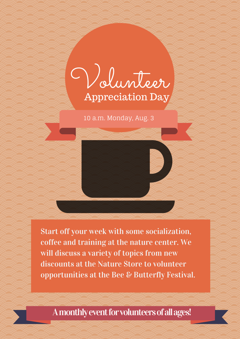 Graphic about Volunteer Appreciation Day Aug. 3