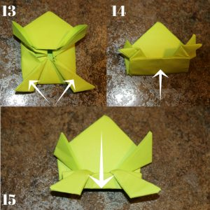 Graphic with origami instructions