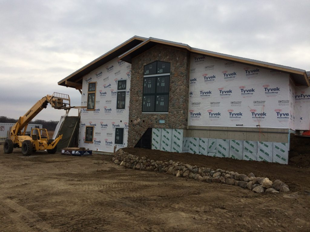 Photo of stonework completed on construction project