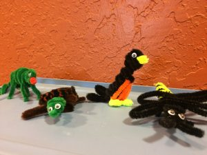 Photo of pipe cleaner animals