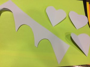 Photo of hearts cut out of paper