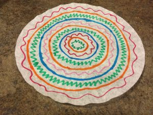 Photo of decorated coffee filter