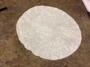 Photo of flattened coffee filter