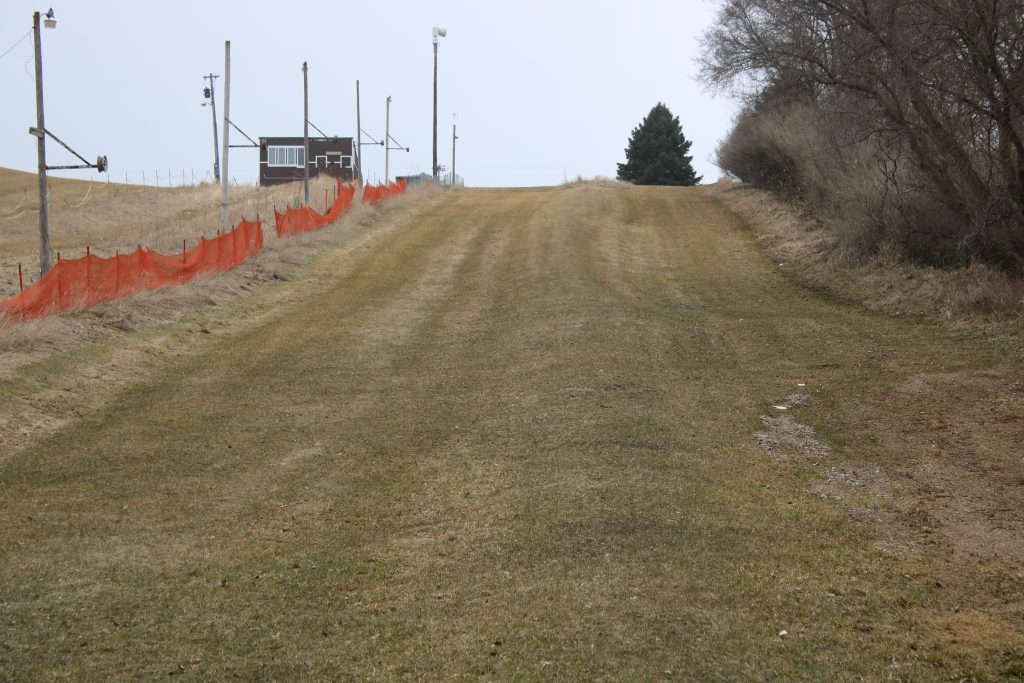 Photo of grassy tubing hill