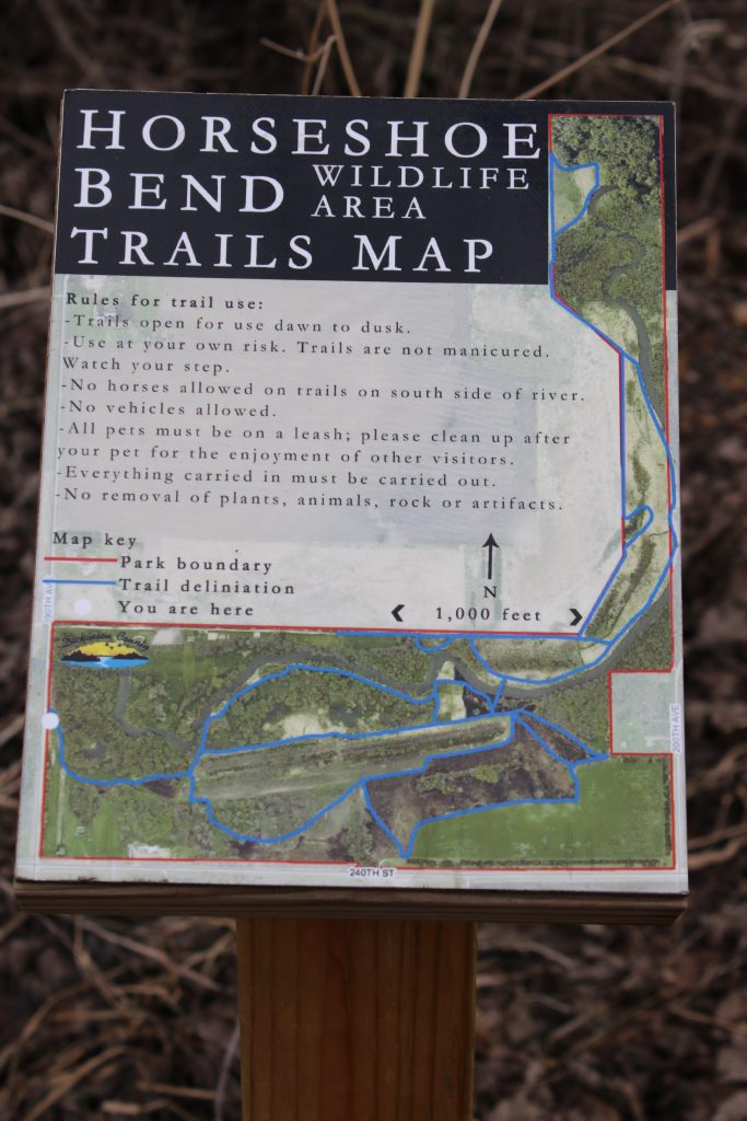 Photo of trails map kiosk